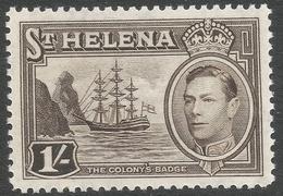 St Helena. 1938-44 KGVI. 1/- MH. SG 137 - Saint Helena Island