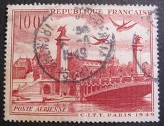 Lot FD/116 - 1949 - POSTE AERIENNE - VUE DE PARIS - N°28 - Poste Aérienne