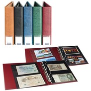 Lindner S3570PB - G LINDNER Luxus-Sammelalbum Für Banknoten/Postkarten Mit 20 Geteilten, Beidseitig Bestückbaren Folie - Supplies And Equipment