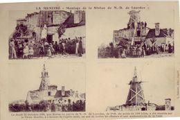 49 LE MENITRE Montage De La Statue De N D De Lourdes - France