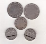 LOT DE 5 JETONS DE TAXIPHONE MODULES DIFFERENTS (voir Scans) ACHAT IMMEDIAT PRIX FIXE - France