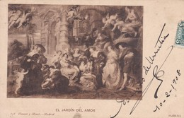 EL JARDIN DEL AMOR, RUBENS. HAUSER Y MENET-CIRCULEE TO URUGUAY-TBE-BLEUP - Peintures & Tableaux