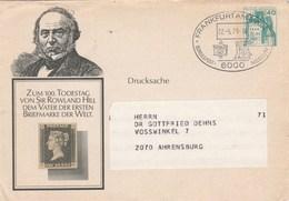 Entier Postal - Enveloppes Privées Illustration Sir Rowland Hill Cachet Illustré Frankfurt Museum 22/5/1979 - [7] République Fédérale
