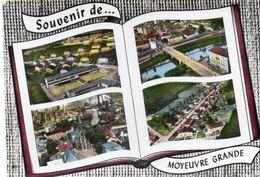 CPSM Dentellé - MOYEUVRE-GRANDE (57) - Carte Multi-vues Au , Livre Ouvert , De 1963 - Autres Communes