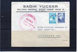 Timbre : Turquie : Lettre De 1946. - Turkey