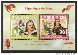 Tchad (2013) - Block -  /  Blumen - Flowers - Fleurs - Flores - Fiori - Birds - Audubon - Hummingbirds