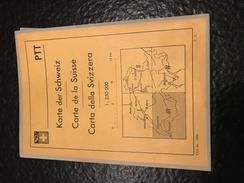 Karte Der Schweiz - Carte De La Suisse - Carta Della Svizzera - PTT - III - Lausanne, Genève - Topographical Maps