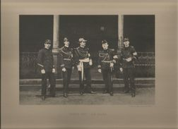 FIGNOS (CHALONS SUR MARNE 51) LES GRADES GADZ'ARTS ECOLE DES ARTS ET METIERS (PHOTO IMPRESSION SUR CARTON) 1907 - Mestieri