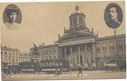 Bruxelles NA118: Eglise St Jacques-sur-Coudenberg. Place Royale ( Tramway) 1923 - Transport Urbain En Surface