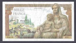 1000 Francs DEMETER 18-02-1943 De Belle Qualité - 1871-1952 Circulated During XXth