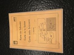 Karte Der Schweiz - Carte De La Suisse - Carta Della Svizzera - PTT - IV - Bellinzona - Cartes Topographiques
