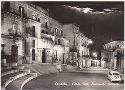 A041 CANDELA FOGGIA CORSO VITT EMANUELE NOTTURNO 1960 CIRCA - Foggia