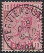 "émission 1883 - N°38 Obl Simple Cercle ""Verviers (Station)"" - 1883 Leopold II"