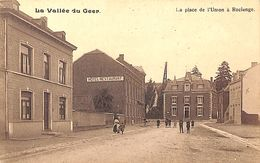 Vallée Du Geer - Roclenge - La Place De L'Union (animée, Hôtel Restaurant, 1920) - Bassenge