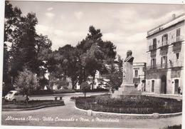 A053 ALTAMURA BARI VILLA COMUNALE E MONUMENTO A MERCADANTE 1960 CIRCA - Altamura