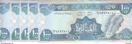 LEBANON 1000 LIVRES 1990 P- 69b Lot X5 UNC NOTES */* - Lebanon