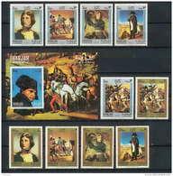 255m - Sharjah MNH ** Mi N° 622 / 631 A + Bloc 64 A Napoléon Tableau (tableaux Paintings) - Fujeira