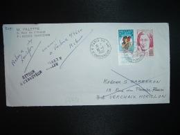 LETTRE TP SIMONE WEIL 1,30+0,30 + VIGNETTE CONTRE LA TUBERCULOSE 2F 1979 1980 OBL.14-1-1980 PARIS 118 + RETOUR 74 VERCHA - Commemorative Labels
