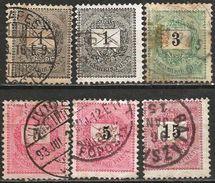 Hungary 1898 1899 Used Numbers Black Crown - Hungary