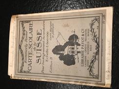 Kummerly-Rosier , CARTE SCOLAIRE De La SUISSE, Pour L'enseignement Secondaire - Geographical Maps