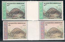 Laos1969:Scott192-3(Michel261-2)mnh** Gutter Pairs - Laos