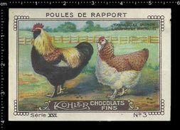 German Poster Stamps, Reklamemarke, Cinderellas, Chicken, Hen, Poultry, Farm, Huhn, Henne, Geflügel, Bauernhof - Hoftiere