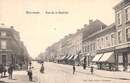 Waremme - Rue De La Station (animée, Horloger, Imprimerie, Edit Fern. Jeanne) - Borgworm