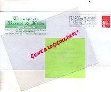 24-BERGERAC- ENVELOPPE PUBLICITAIRE TRANSPORTS ROUX & FILS- 116 AVENUE ARISTIDE BRIAND - Transport