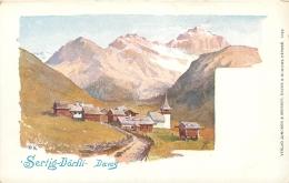 DAVOS SERTIG DORFLI PAR ILLUSTRATEUR SIGNE W.K. - GR Graubünden