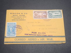 VENEZUELA - Enveloppe Par Avion De Maracaibo Pour Paris En 1939 , Affranchissement Plaisant - L 11857 - Venezuela