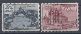 VATICAN - 1949 -Timbres Exprès N° 11 Et 12 - Neufs X - Traces De Charnières Discrètes - Cote 45.00 € - TB - - Express