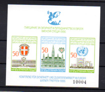 1986  Conférence Sécurité Européenne, BK 168 B**, (non Dentelé), Cote 32 €, - Blocks & Sheetlets