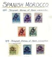 SPANISH MOROCCO, Telegraphs, */o M/U, F/VF - Spanish Morocco