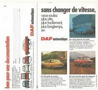 Publicité Automobile DAF   En Main, Jugez L'automatisme. - Advertising
