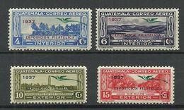 GUATEMALA 1937 Exposition Filatelica Michel 336 - 339 MNH/MH - Guatemala