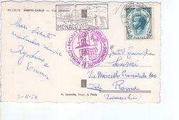 U1430 Small Postcard 1959: MONTECARLO (Monte Carlo) Vue Generale + NICE  STAMP AND TIMBRE (francobollo) - Monaco