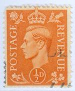 GRAN BRETAGNA, GREAT BRITAIN, COMMEMORATIVO, RE GIORGIO VI, KING GEORGE VI, 1937, USATI, Scott 235 - Usati