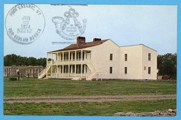 """'Wyoming's Oldest Building - """"Old Bedlam"""" - Ft. Laramie - 125th Anniversary' [#140] - United States"""
