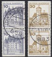 GERMANIA - GERMANY - DEUTSCHLAND - ALLEMAGNE -  1977 - Lotto 4 Valori Obliterati: Yvert 762b E 763b - Usati