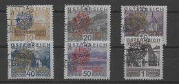 Austria Nº Yvert 398A/98F (o) Serie Completa, Valor Catálogo 510.0€ - 1918-1945 1. Republik