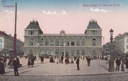 Brussel, Bruxelles, Place Rogier Et Gare Du Nord (pk42064) - Spoorwegen, Stations