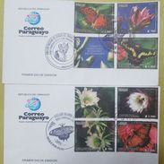 L) 2017 PARAGUAY, TUNAS AND BUTTERFLIES OF THE PARAGUAY, NATURE, FLOWERS, FDC - Uruguay