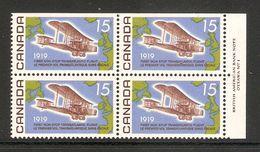 006252 Canada 1969 First Flight 15c Plate Block 1 UR MNH - Numeri Di Tavola E Bordi Di Foglio