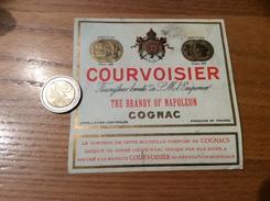 Etiquette * «COGNAC - COURVOISIER THE BRANDY OF NAPOLEON » - Labels