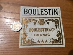 Etiquette «COGNAC - BOULESTIN & Co » - Labels
