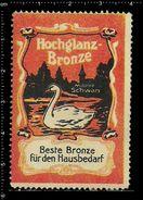 German Poster Stamps, Reklamemarke, Cinderellas, Bird, Swan, Vogel, Schwan, - Swans