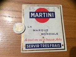 Ancienne Etiquette «MARTINI - 65 I BM 2 » - Labels
