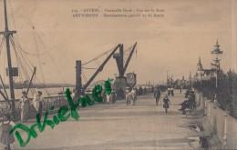Feldpost: 2. Eskadron Husaren-Regt. Nr. 9, Antwerpen 25.12.1915 Motiv: Anvers, Passerelle Nord, Vue Sur La Rade Ladekran - 1914-18