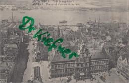 Feldpost: 2. Eskadron Husaren-Regt. Nr. 9, Antwerpen 9.12.1915, Motiv: Anvers Vogelschau - 1914-18