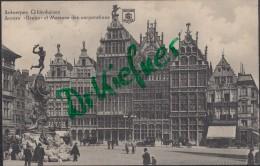 """Feldpost: 2. Eskadron Husaren-Regt. Nr. 9, Antwerpen 11.12.1915, Anvers """"Brabo"""" Und Zunfthäuser - 1914-18"""